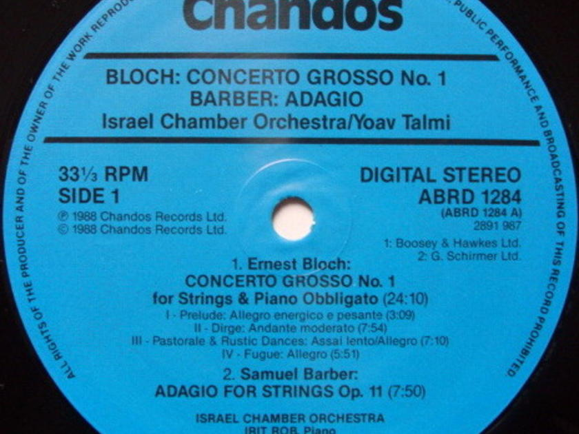 ★Audiophile★ Chandos / TALMI-MAR, - Barber Adagio for Strings, MINT!