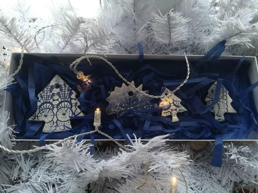 Набор новогодних подвесок