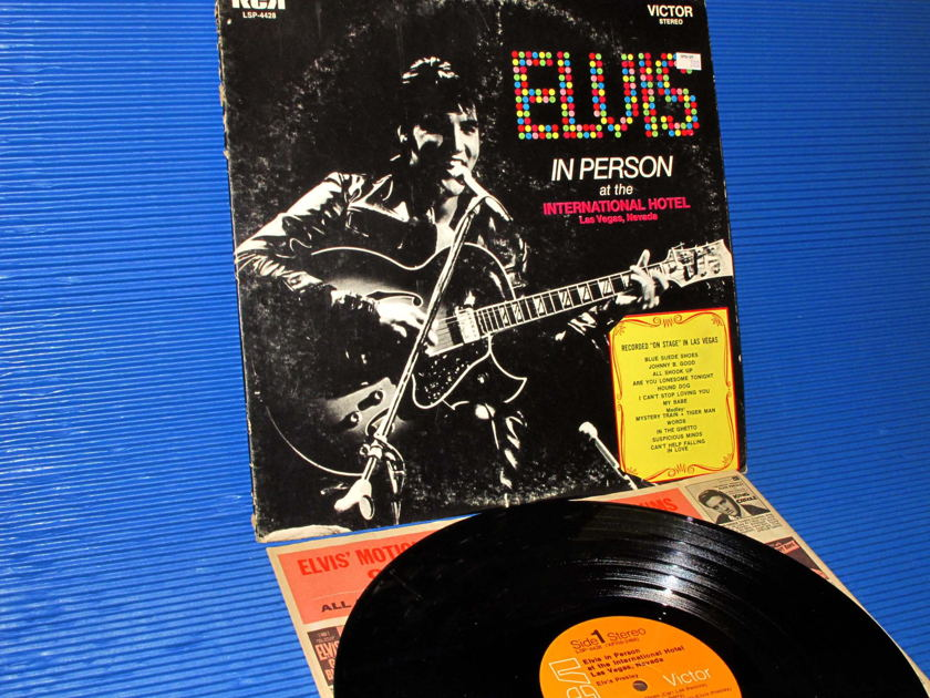 "ELVIS -  - ""In Person at the International Hotel"" -  RCA 1970 Heavy Vinyl Rare!"