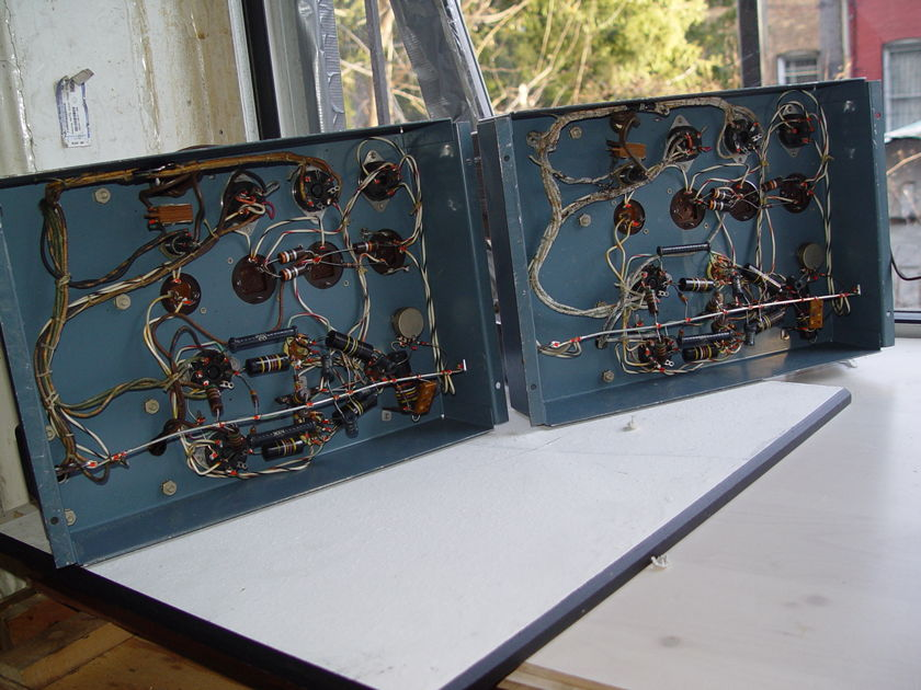 Matched pair RCA SP-10 10 Watt Vacuum Tube High-Fidelity Audio Power Amplifier mono- sp-10 pair # 2226 & # 2242 some western electric parts , tubes
