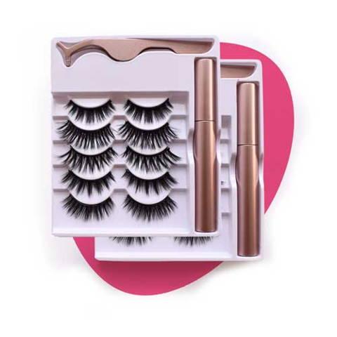 magnetic eyelashes with applicator