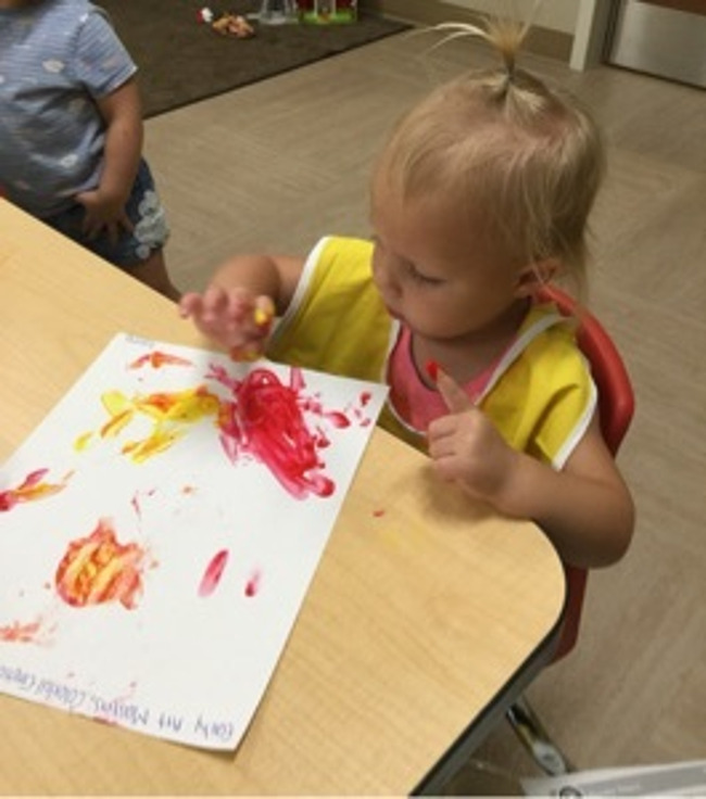 painting, red, yellow, art, 2 year old, create