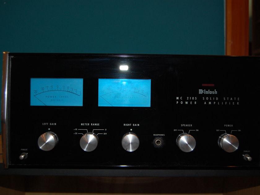 McIntosh MC-2105 Power Amp with Wood Case