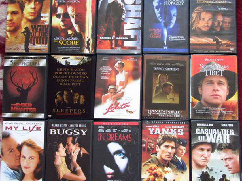 15 various dvd's - all are mint !