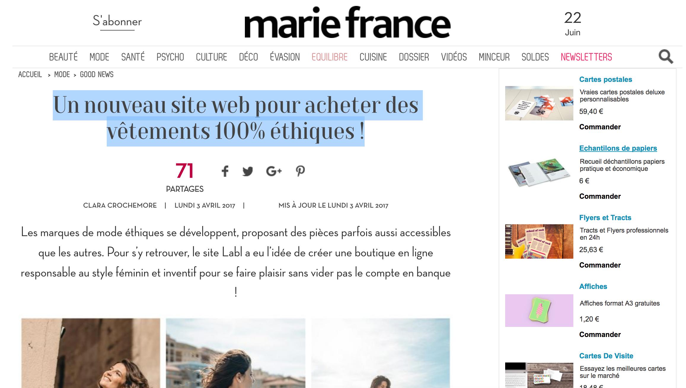 MARIE FRANCE LABL