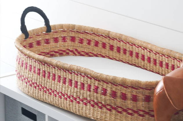 ZuriRose Co - African Changing Basket for Baby