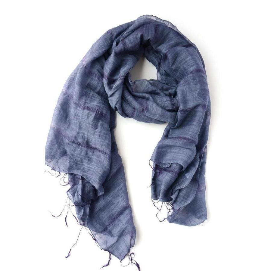 handwoven purple fair anita scarf