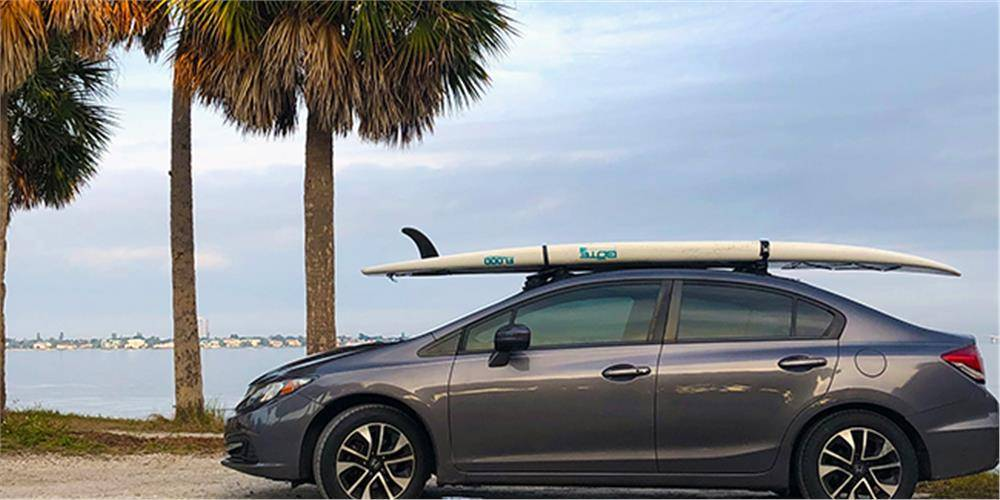 paddle board on top of honda civic