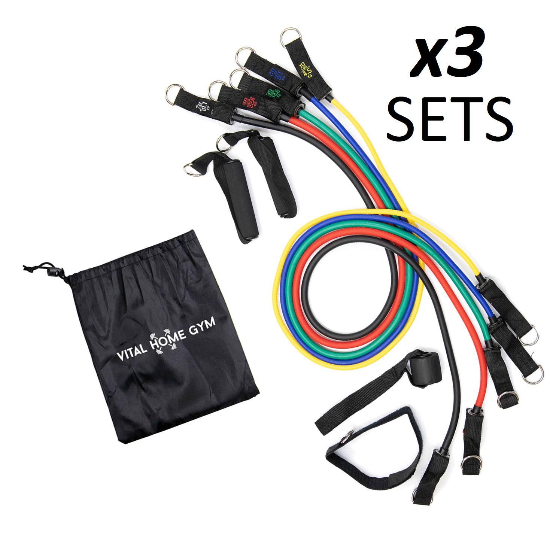 workout equipment, 11 pcs resistance bands, resistant bands