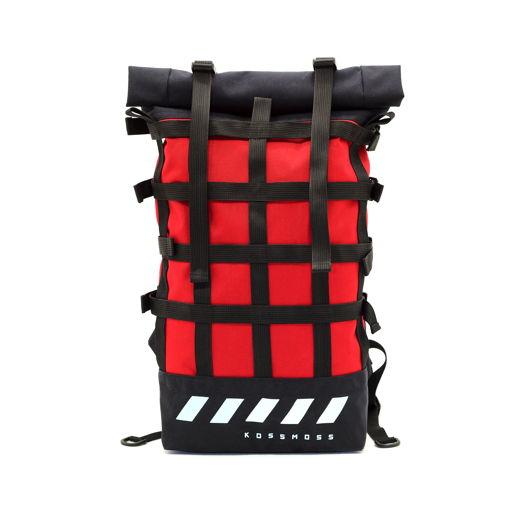 Красный ролл топ рюкзак / Светоотражающая Сумка / Red reflective backpack