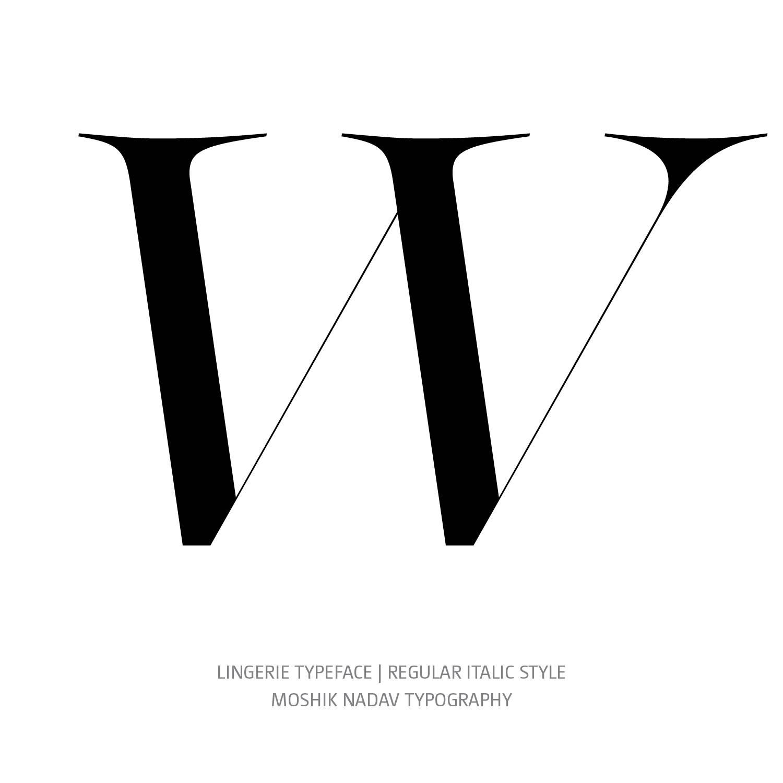 Lingerie Typeface Regular Italic W- Fashion fonts by Moshik Nadav Typography