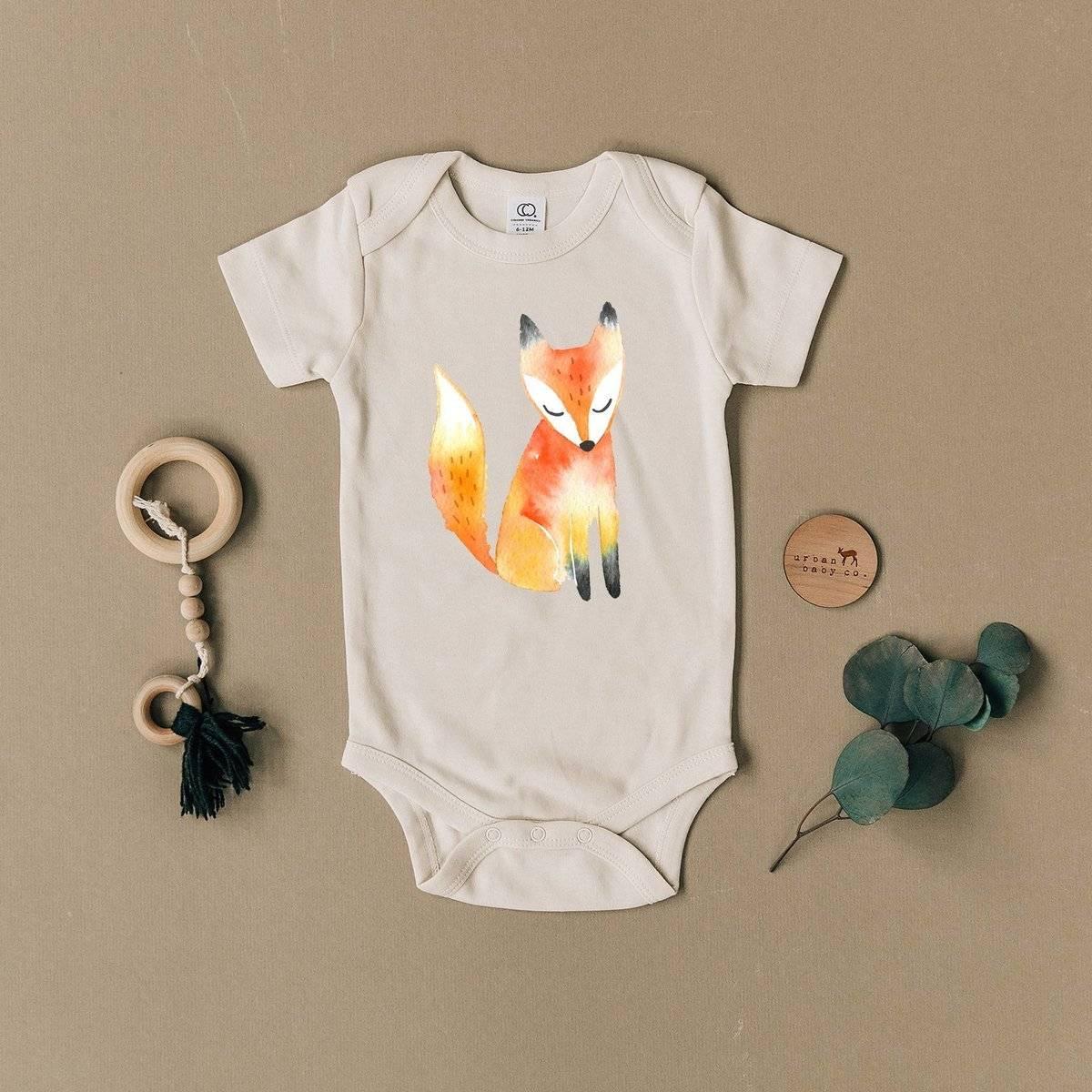 Organic Cotton Fox Onesie for Baby