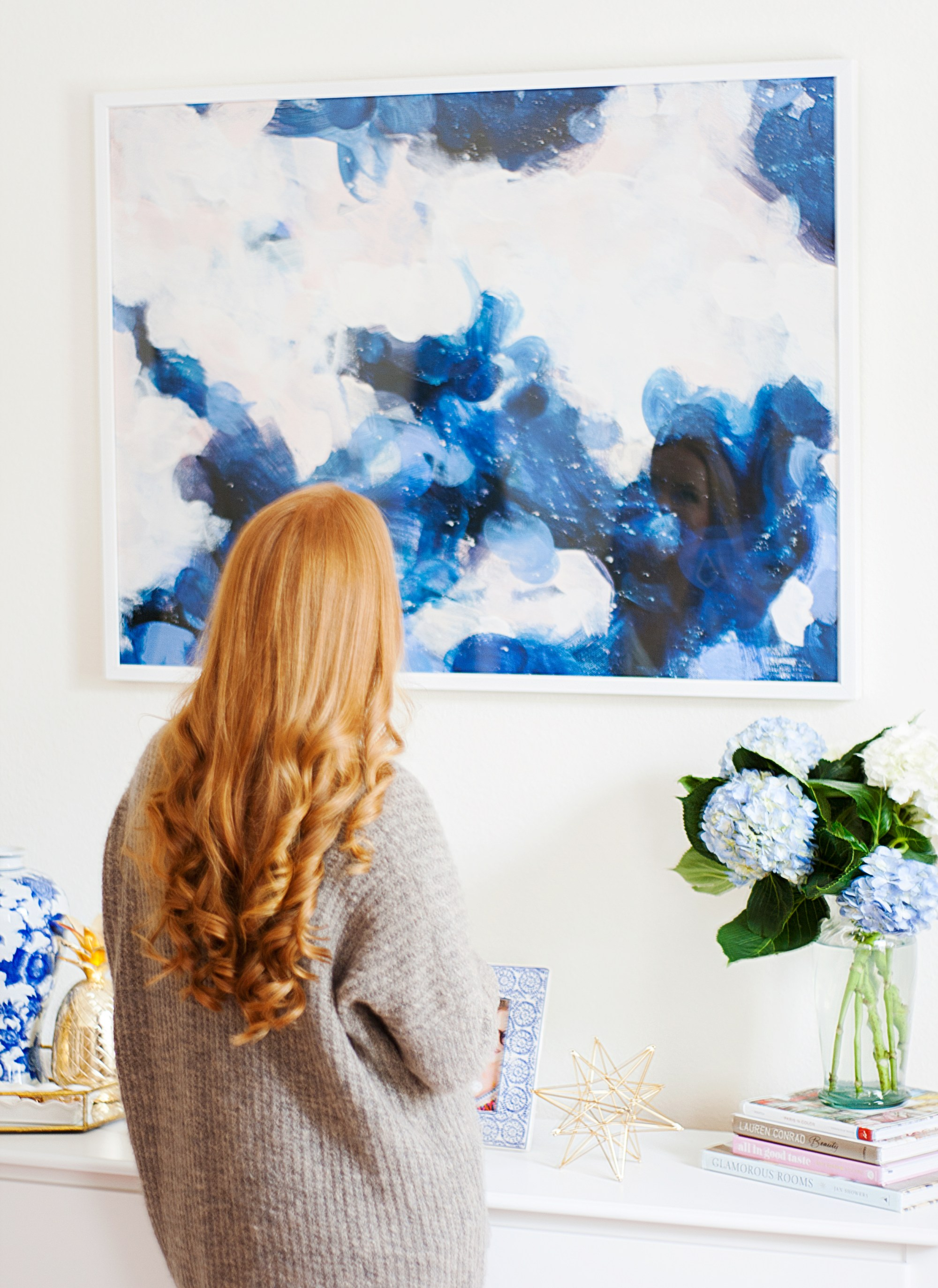 Large scale art print by Parima Studio in Oh What I See's bedroom update