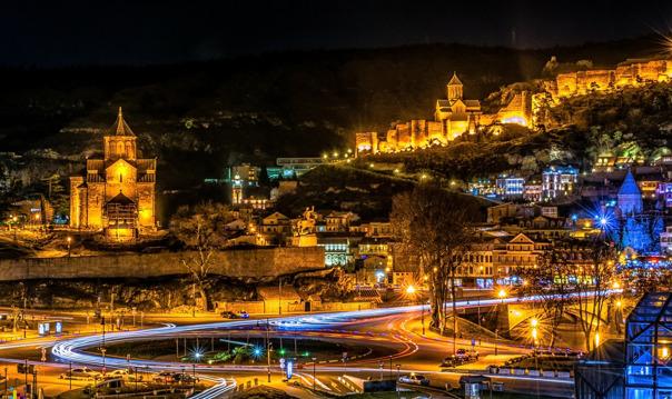 Лучшие панорамы вечернего Тбилиси
