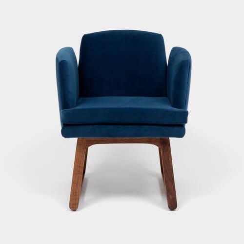 Artless Alison Chair in Admiral Velvet