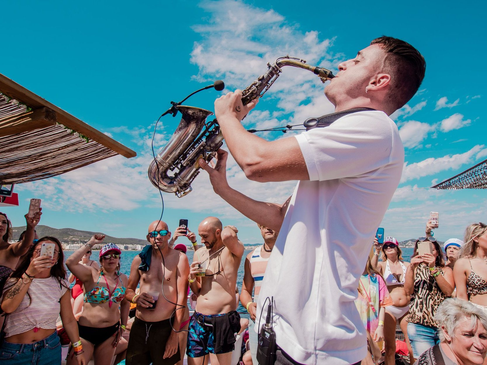 Live music Ibiza boat party