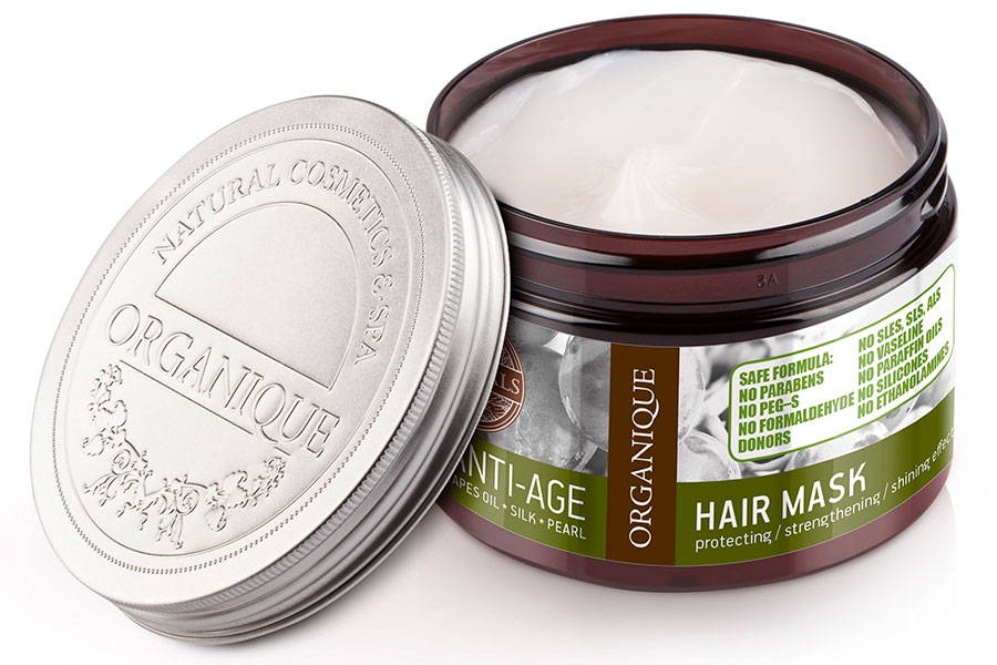 Organique natural anti age mask and conditioner for dry and dyed hair