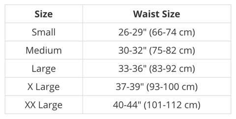 Diamond MMA Compression Brief Size Chart