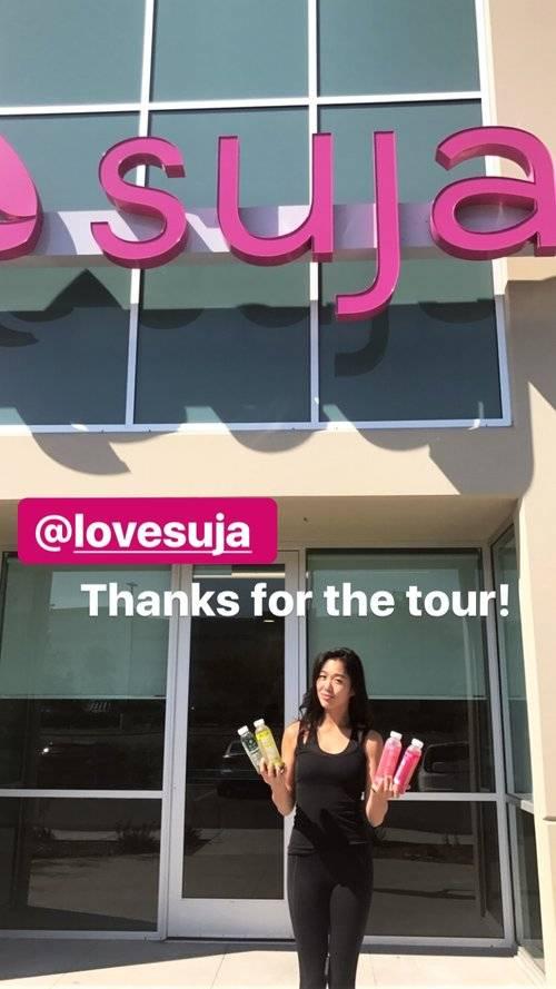 Pulp Pantry co-founder, Ashley Miyasaki, visiting organic suja juice