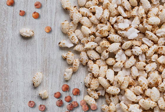 brown rice and quinoa puffs