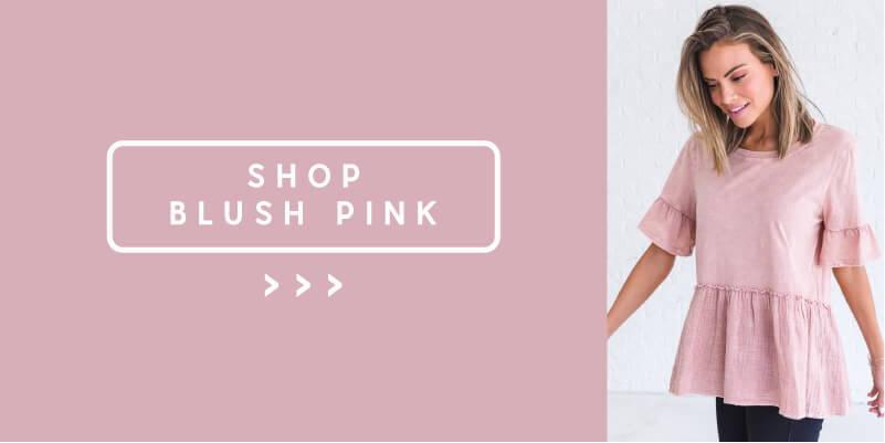 shop blush pink spring color styles from bella ella boutique