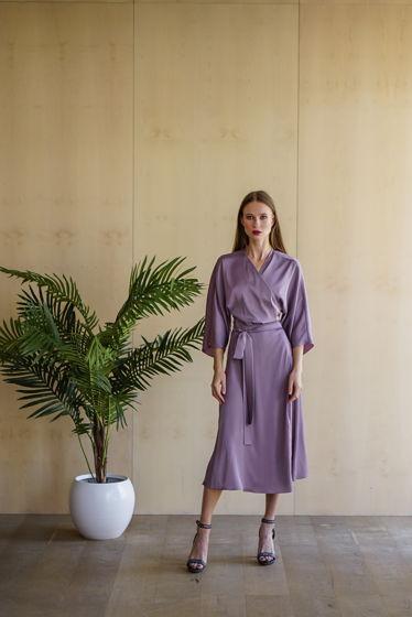 Шелковое платье-халат Zefir