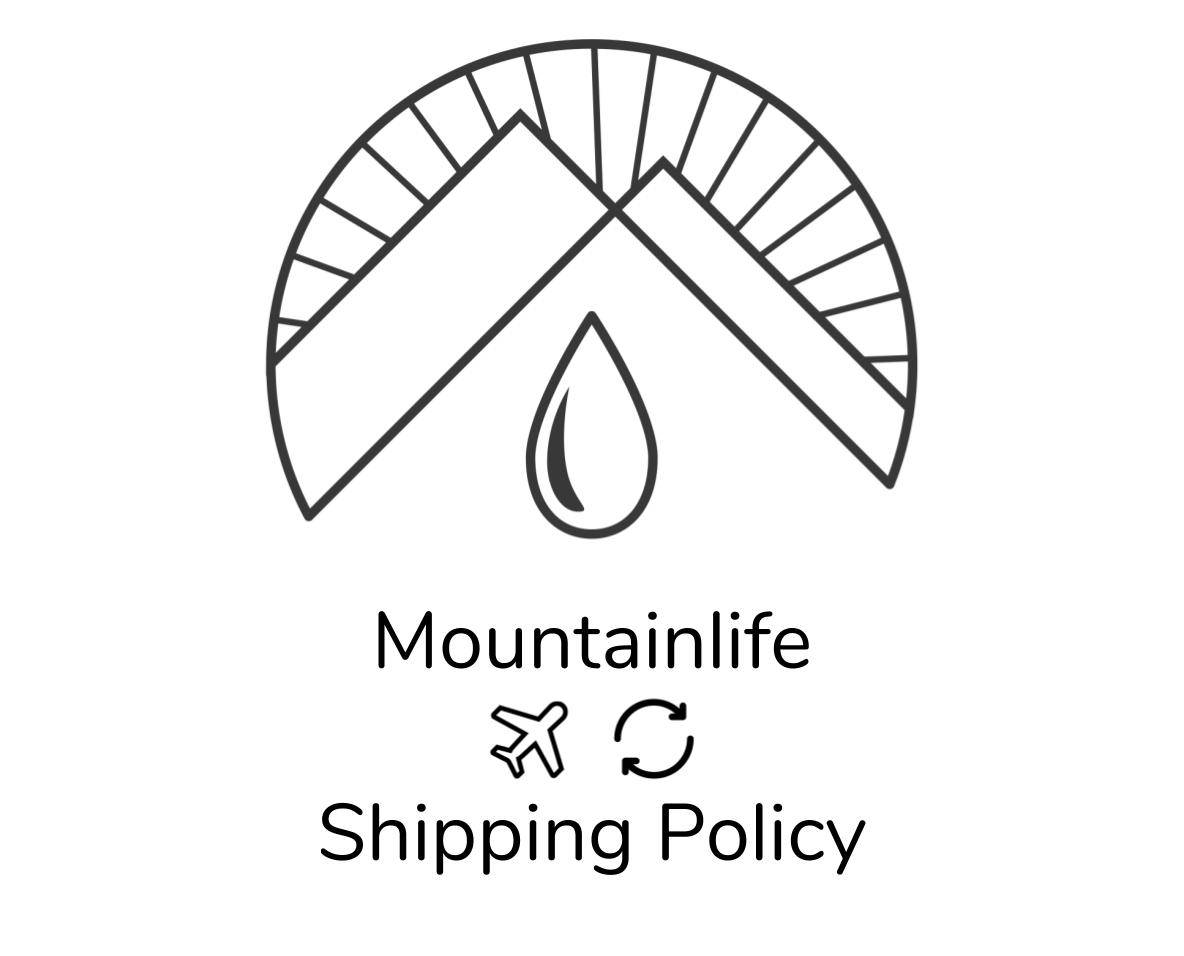 mountainlife shipping policy logo in black