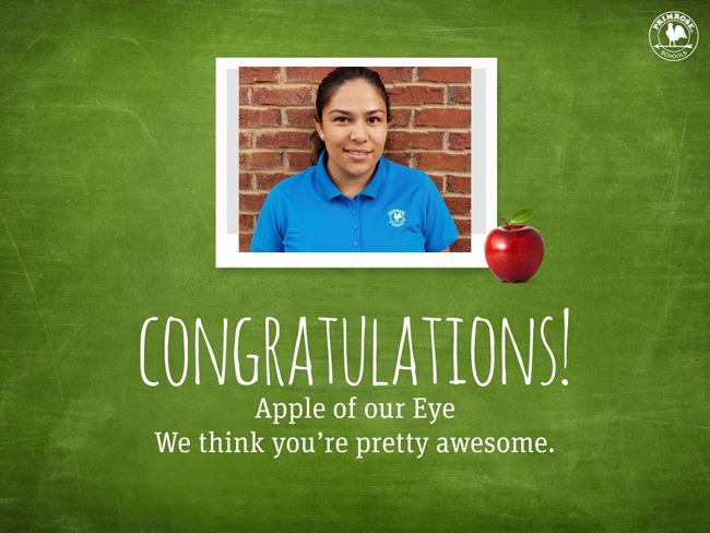 January Apple of the Eye!