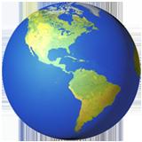Globe showing americas 1f30e