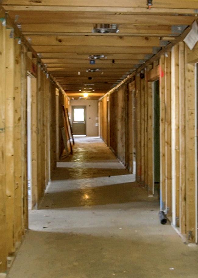 Primrose preschool north murfreesboro hallway under construction