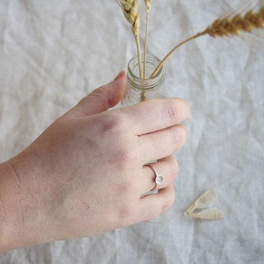 Кольцо из серебра с горячей эмалью. Розовый + голубой