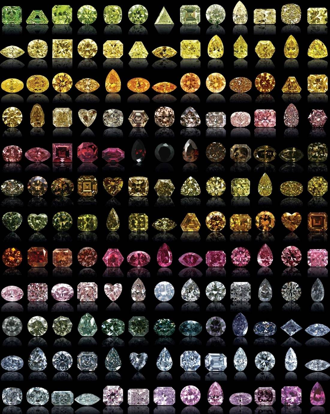 Natural fancy colored diamonds examples
