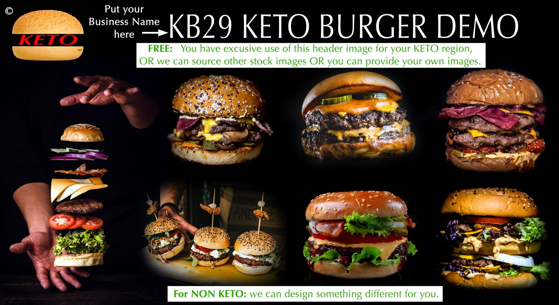 Logo - KETO BURGERS HARVEY BAY