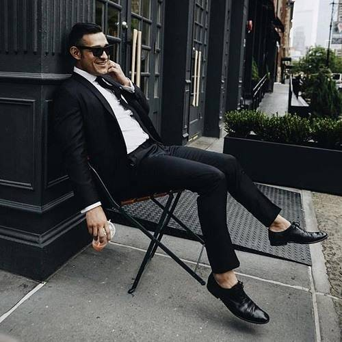 costume noir homme