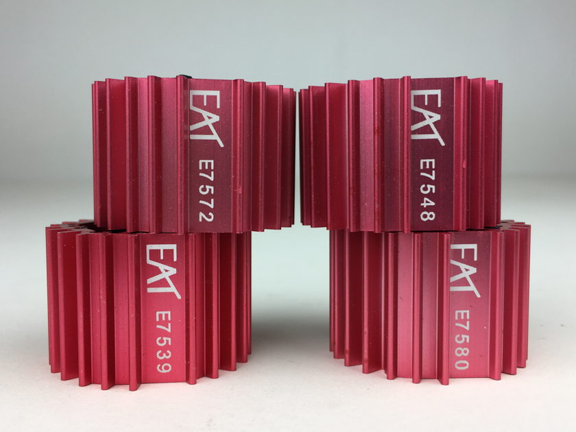 EAT European Audio Team CoolTube QUAD (4) 12AX7 type Tube Dampeners