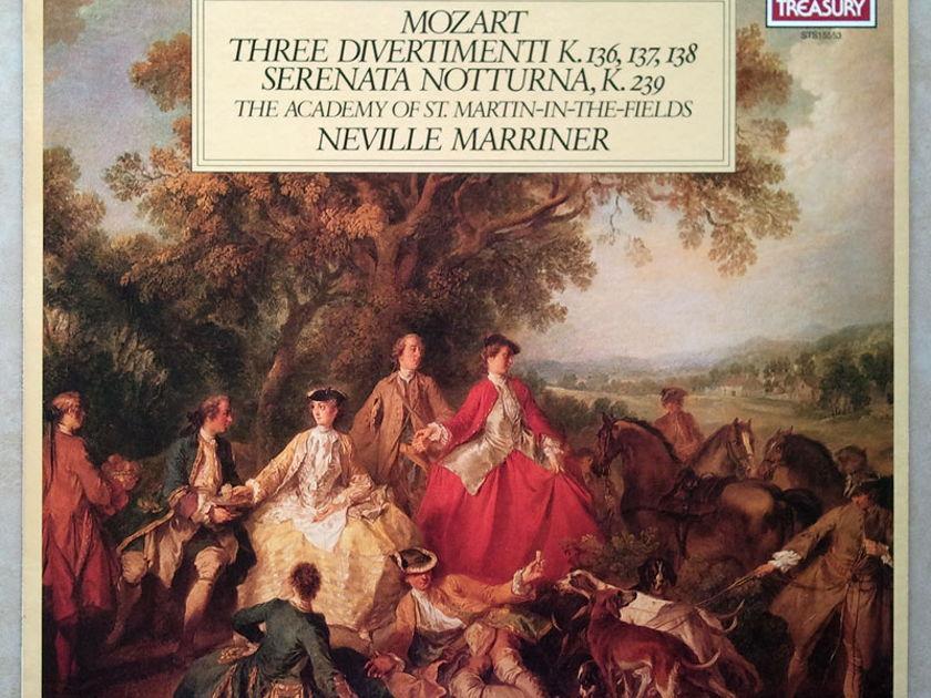 London ffrr | MARRINER/MOZART - Three Divertimenti, Serenanta Notturna / NM