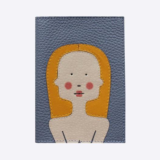 Обложка для паспорта Блондинка