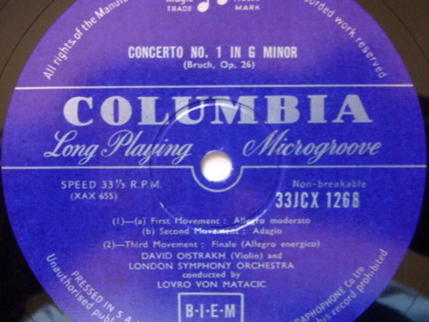 ★1st Press★ S. AFRICAN COLUMBIA 33CX MONO / OISTRAKH, - Bruch-Prokofiev Violin Concertos, NM-!