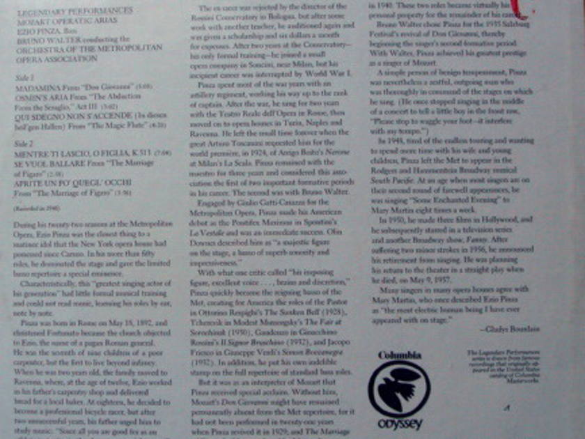 ★Sealed★ Columbia Odyssey / - PINZA-WALTER, Mozart Operatic Arias!