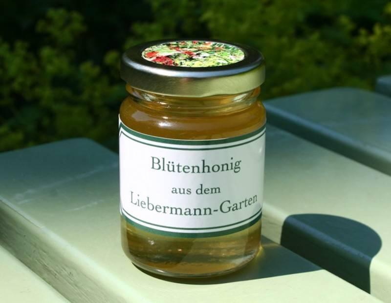 Das Honigglas welches wir ganz speziell im Museumsshop der Liebermann-Villa am Wannsee anbieten.