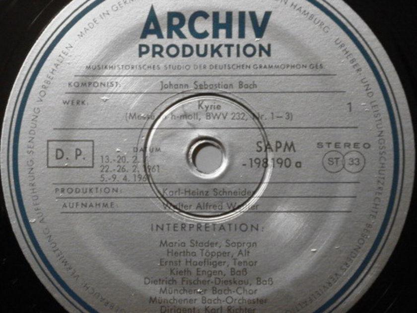 ★1st Press★ Archive / RICHTER, - Bach Mass in B Minor, MINT, 3LP Box Set!