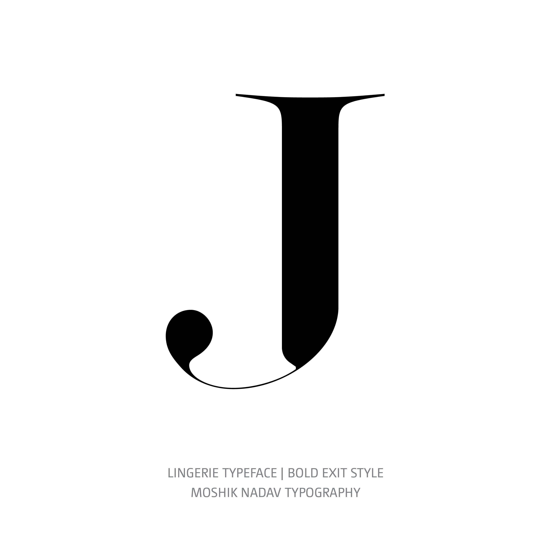 Lingerie Typeface Bold Exit J