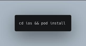 cd ios && pod install