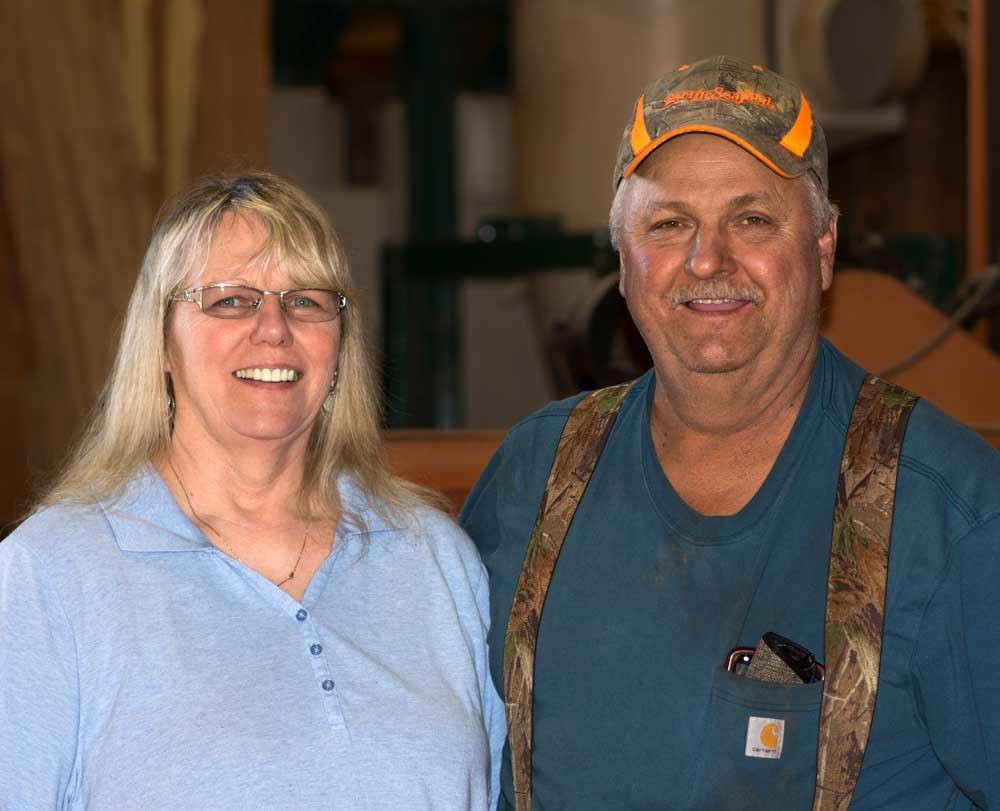 Irwin and Linda Wright owners of High West Wood Products