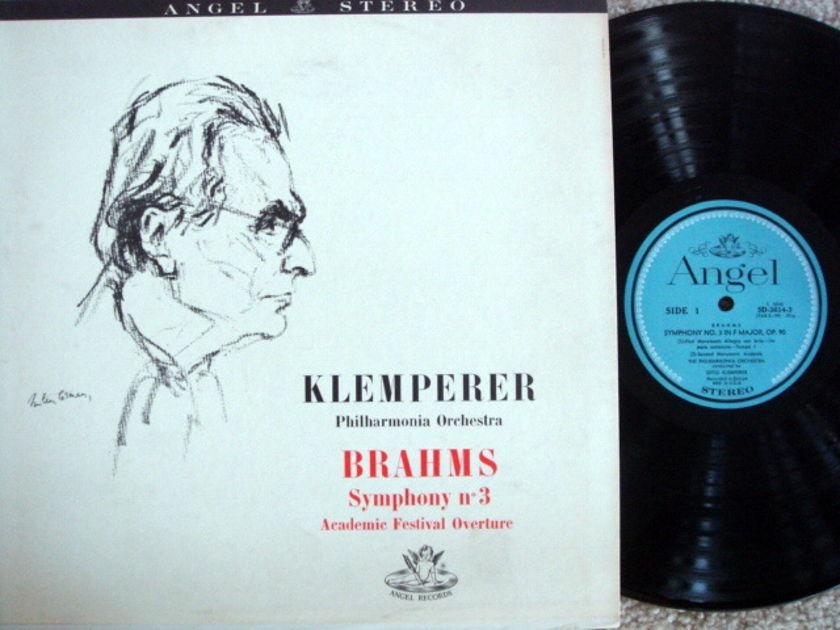 EMI Angel Blue / KLEMPERER, - Brahms Symphony No.3, NM!