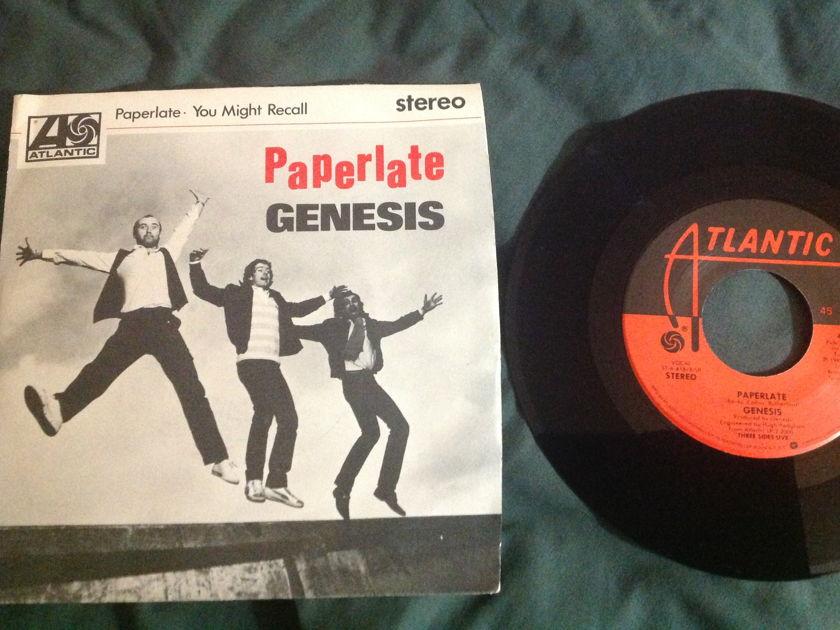 Genesis - Paperlate 45 With Sleeve NM