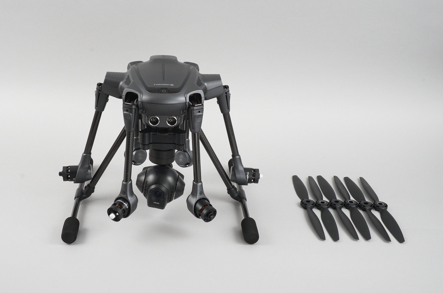 Typhoon H retractable arms and propellers