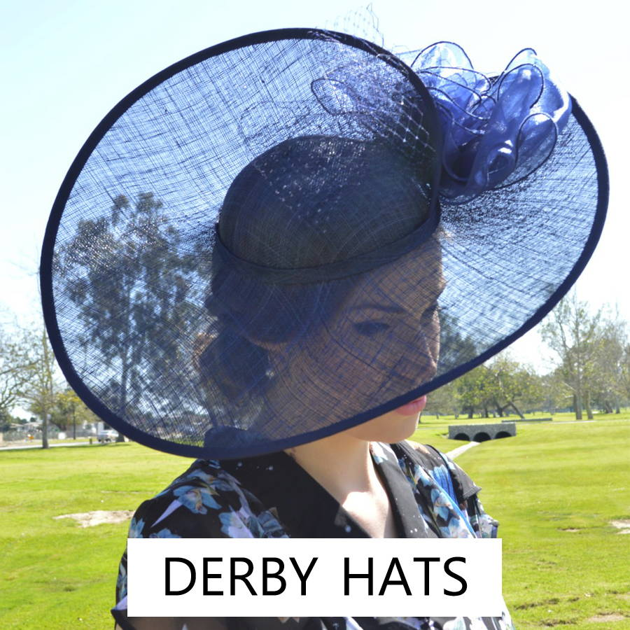 Women's derby hats are great for the races or for Sunday church.