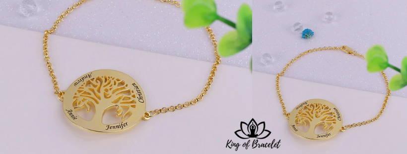 Bracelet Arbre de Vie avec Prénom à Graver - King of Bracelet