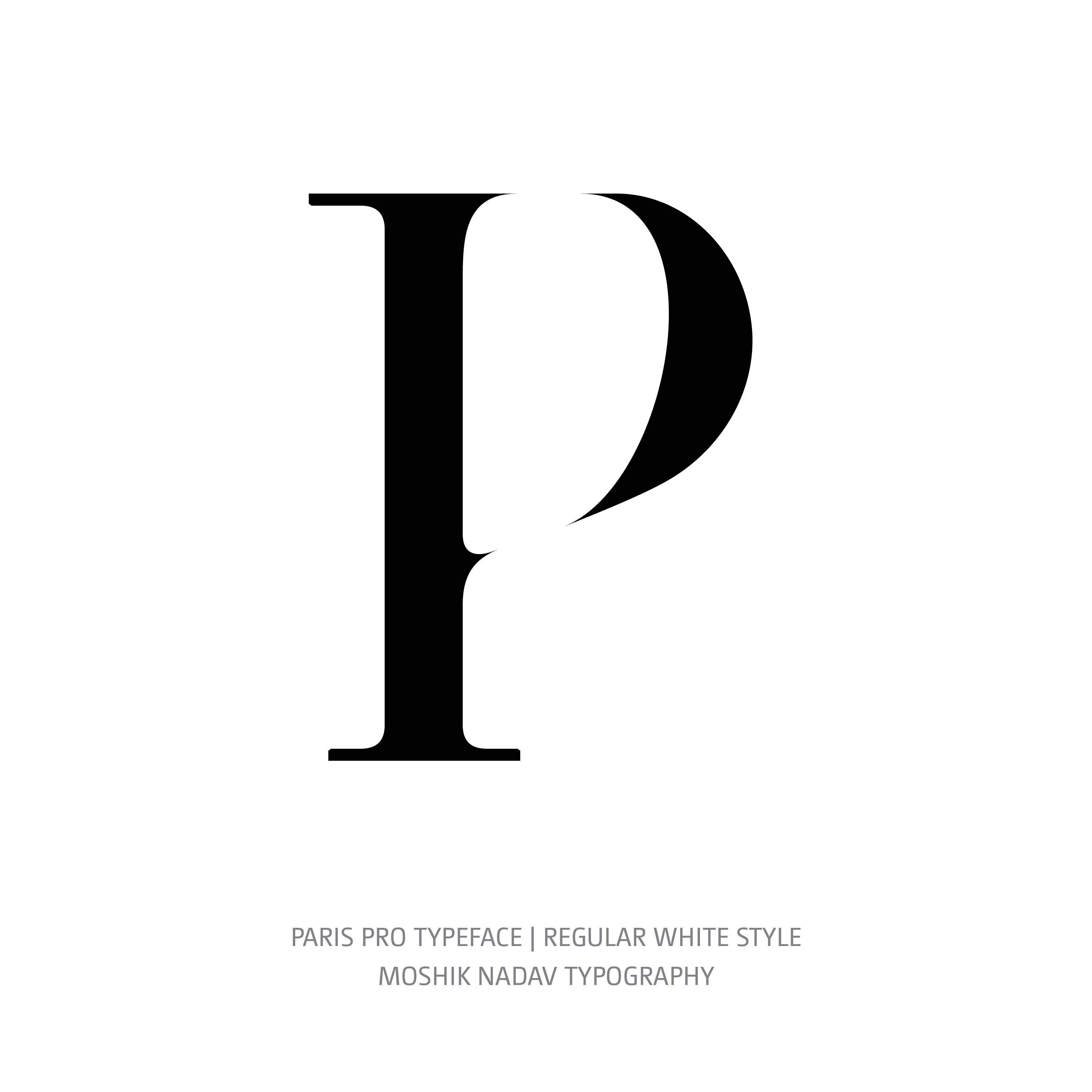 Paris Pro Typeface Regular White P